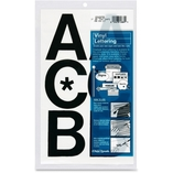 """Vinyl Capital Letters, Adhesive, 3"""", 50 Letters, Black by Chartpak"""