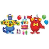 Birthday Bulletin Board Set, Fury Friend, Multi by Trend