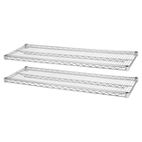 "Industrial Wire Shelving, 2 Extra Shelves,36""x24"", 2/PK, CE by Lorell"