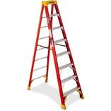 Ladder,Step,Fiberglass,8' by Werner