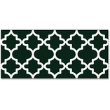 """Border, Moroccan, 35-3/4'Wx2-3/4""""H, Bk/W by Trend"""