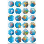 Globe Stickers, Classpack, 72/Pk, Ast by Hygloss
