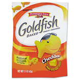 Goldfish Crackers, Cheddar, Single-Serve Snack, 1.5oz Bag, 72/Carton by PEPPERIDGE FARM, INC