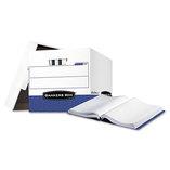 Data-Pak Storage Box, 12-3/4 x 16 x 12-1/2, White/Blue, 12/CT by FELLOWES MFG. CO.