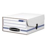 LIBERTY Binder-Pak Storage Box, Letter, Snap Fastener, White/Blue by FELLOWES MFG. CO.
