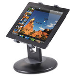 """Stand for 7"""" to 10"""" Tablets, Swivel Base, Plastic, Black by KANTEK INC."""