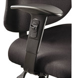 Height/Width-Adjustable T-Pad Arms for Alday 24/7 Task Chair, Black, 1 Pair by SAFCO PRODUCTS
