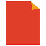 Two Cool Poster Board, 22 x 28, Fluorescent Red/Fluorescent Orange. 25/PK by GEOGRAPHICS