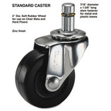 Standard Casters, 75 lbs./Caster, Rubber, C Stem, Soft, 4/Set by MASTER CASTER COMPANY