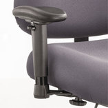 Height/Width-Adjustable T-Pad Arms for Optimus Big & Tall Chairs, Black, 1 Pair by SAFCO PRODUCTS