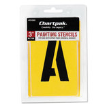 Painting Stencil Set, A-Z Set/0-9, Manila, 35/Set by CHARTPAK/PICKETT