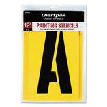 Painting Stencil Set, A-Z Set, Manila, 26/Set by CHARTPAK/PICKETT