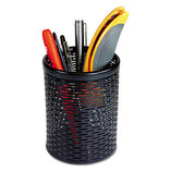 Urban Collection Punched Metal Pencil Cup, 3 1/2 x 4 1/2, Black by ARTISTIC LLC