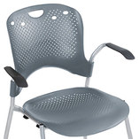 Optional Arms for Circulation Series Seating, Black/Silver by BALT INC.