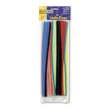 "Jumbo Stems, 12"" x 6mm, Metal Wire, Polyester, Assorted, 100/Pack by THE CHENILLE KRAFT COMPANY"