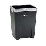 Office Suites Divided Pencil Cup, Plastic, 3 1/16 x 3 1/16 x 4 1/4, Black/Silver by FELLOWES MFG. CO.