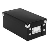 Snap 'N Store Collapsible Index Card File Box Holds 1,100 3 x 5 Cards, Black by IDEASTREAM CONSUMER PRODUCTS