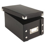 Snap 'N Store Collapsible Index Card File Box Holds 1,100 4 x 6 Cards, Black by IDEASTREAM CONSUMER PRODUCTS