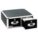 Vaultz Locking 6 x 4 Two-Drawer Index Card Box, 3000-Card Capacity, Black by IDEASTREAM CONSUMER PRODUCTS