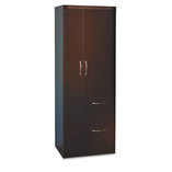 Aberdeen Series Personal Storage Tower, Box 2 Of 2, 24w x 24d x 68-3/4h, Mocha by MAYLINE COMPANY