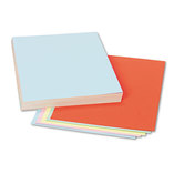 Assorted Colors Tagboard, 12 x 9, Blue/Canary/Green/Orange/Pink, 100/Pack by PACON CORPORATION