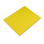 Colored Four-Ply Poster Board, 28 x 22, Lemon Yellow, 25/Carton by PACON CORPORATION