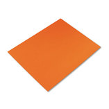 Colored Four-Ply Poster Board, 28 x 22, Orange, 25/Carton by PACON CORPORATION