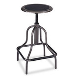 Diesel Series Backless Industrial Stool, High Base, Black Leather Seat by SAFCO PRODUCTS