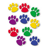 Paw Print Accents, Assorted Colors by TEACHER CREATED RESOURCES