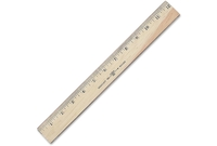 """ACME UNITED CORPORATION 05221 Wood Ruler,Scaled in 16ths/Metric,Double Brass Edge,12"""" L by Westcott"""