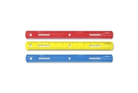 """ACME UNITED CORPORATION 10526 Plastic Ruler, Grooved Plastic, 12""""Long, Assorted by Westcott"""