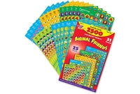 TREND ENTERPRISES, INC. 46915 Stickers, Animal Friends, 2500 Ea/Pk, Mi by Trend