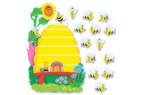 "TREND ENTERPRISES, INC. T8077 Busy Bees Job Chart Plus Bulletin Board Set 18 1/4"" x 17 1/2"" by TREND ENTERPRISES, INC."