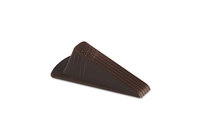 Giant Foot Doorstop, No Slip Rubber Wedge, 3 1/2w X 6 3/4d X 2h, Brown,  2/Pack By MASTER CASTER COMPANY