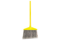 "RUBBERMAID COMMERCIAL PROD. 637500 Angled Large Broom, Poly Bristles, 46 7/8"" Metal Handle, Yellow/Gray by RUBBERMAID COMMERCIAL PROD."