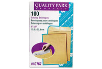QUALITY PARK PRODUCTS 40767 Catalog Envelope, 6 x 9, Brown Kraft, 100/Box by QUALITY PARK PRODUCTS