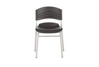 ICEBERG ENTERPRISES, LLC 64517 CafWorks Chair, Blow Molded Polyethylene, Graphite/Silver, 2/Carton by ICEBERG ENTERPRISES