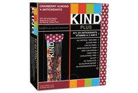 KIND Healthy Snacks 17211 Plus Nutrition Boost Bar, Cranberry Almond and Antioxidants, 1.4 oz, 12/Box by KIND LLC