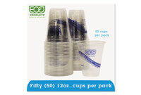 Eco-Products, Inc EP-CR12PK BlueStripe Recycled Clear Plastic Cold Cups, 12oz, Clear, 50/Pack by ECO-PRODUCTS,INC.