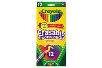 BINNEY & SMITH / CRAYOLA 684412 Erasable Colored Woodcase Pencils, 3.3 mm, 12 Assorted Colors/Set by BINNEY & SMITH / CRAYOLA