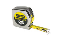 """Stanley-Bostitch Office Products 33-425 Powerlock II Power Return Rule, 1"""" x 25ft, Chrome/Yellow by STANLEY BOSTITCH"""