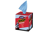Kimberly-Clark Corporation 75190 Shop Towels, Blue, Double Recrepe, 10 x 13, 200/Box, 8 Boxes/Carton by KIMBERLY CLARK