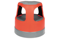 "Cramer, Inc 50011PK-43 Scooter Stool, Round, 15"", Step & Lock Wheels, to 300lb, Red by CRAMER"