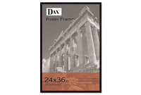 DAX MANUFACTURING INC. 286036X Flat Face Wood Poster Frame, Clear Plastic Window, 24 x 36, Black Border by DAX MANUFACTURING INC.
