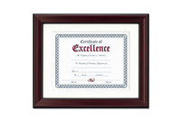 DAX MANUFACTURING INC. 00076795295907 Rosewood Document Frame, Wall-Mount, Plastic, 11 x 14, 8 1/2 x 11 by DAX MANUFACTURING INC.
