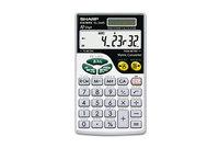 Sharp Electronics EL-344RB EL344RB Metric Conversion Wallet Calculator, 10-Digit LCD by SHARP ELECTRONICS