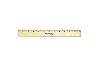 "ACME UNITED CORPORATION 05011 Wood Ruler with Single Metal Edge, 12"" by ACME UNITED CORPORATION"
