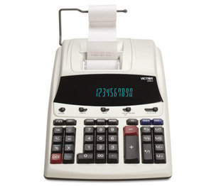 Victor Technology, LLC 1230-4 1230-4 Fluorescent Display Printing Calculator, Black/Red Print, 3 Lines/Sec by VICTOR TECHNOLOGIES