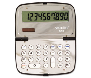 Victor Technology, LLC 909 909 Handheld Compact Calculator, 10-Digit LCD by VICTOR TECHNOLOGIES