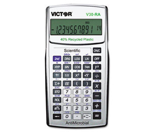 Victor Technology, LLC V30-RA V30RA Scientific Recycled Calculator w/Antimicrobial Protection by VICTOR TECHNOLOGIES